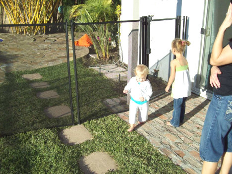 Viking Premium Pool Fence Keeps Children Safe